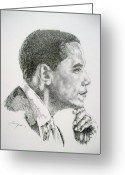 President Obama Greeting Cards - Realizing A Dream Greeting Card by Otis  Cobb