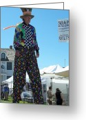 Mad Hatter Photo Greeting Cards - Really Tall Mad Hatter Greeting Card by Chalet Roome-Rigdon
