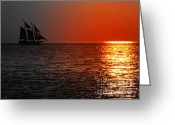 Sailing Ships Greeting Cards - Realm At the Helm Greeting Card by Karen Wiles