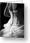 Wedding Greeting Cards - Rear View Of Bride Greeting Card by John B. Mueller Photography