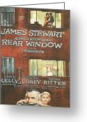 Motion Picture Greeting Cards - Rear Window Greeting Card by Nomad Art and  Design