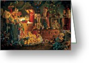 Claus Greeting Cards - Reason for the Season Greeting Card by Greg Olsen