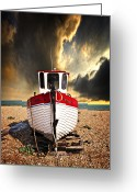 Fishing Boat Greeting Cards - Rebecca Greeting Card by Meirion Matthias