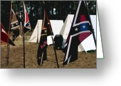 Confederates Greeting Cards - Rebel camp Greeting Card by David Lee Thompson