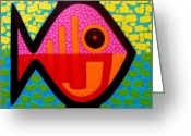 Giclees Greeting Cards - Rebel Fish  II Greeting Card by John  Nolan