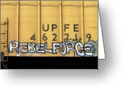 Tag Art Greeting Cards - Rebel Force Greeting Card by Donna Blackhall