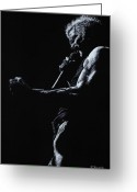 Performer Greeting Cards - Rebel Yell 1 Greeting Card by Richard Young
