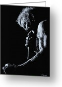 Performer Greeting Cards - Rebel Yell Greeting Card by Richard Young