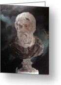 Greek Sculpture Painting Greeting Cards - Rebirth Greeting Card by Adam Schonhiutt