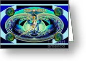 Third Age Greeting Cards - Rebirth Greeting Card by Rosalyn Stevenson