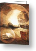 Bataille Greeting Cards - Recit dAboukir Greeting Card by Frank Godille