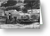 Tuolumne Greeting Cards - Recreational Vehicles Chinese Camp Greeting Card by Troy Montemayor