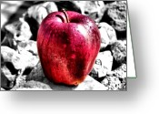 Red Greeting Cards - Red Apple Greeting Card by Karen M Scovill