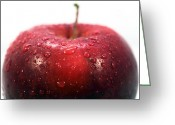 Kitchen Photos Greeting Cards - Red Apple Top Greeting Card by John Rizzuto