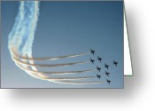 Raf Photo Greeting Cards - Red Arrows - 1 Greeting Card by Graham Taylor