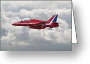 Raf Digital Art Greeting Cards - Red Arrows - Hawk Greeting Card by Pat Speirs