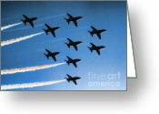 Raf Photo Greeting Cards - Red Arrows Greeting Card by Graham Taylor