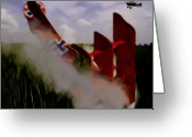Digital Images Greeting Cards - Red Baron Down Greeting Card by Garry Staranchuk