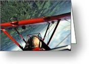 Bi Plane Greeting Cards - Red Barron Greeting Card by Bryan Allen
