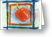 Red Greeting Cards - Red Bell Pepper Greeting Card by Igor Kislev