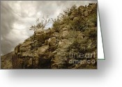 Rocky Mountains Greeting Cards Greeting Cards - Red Boulder Mountain Greeting Card by Andrea Hazel Ihlefeld