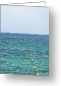 Rhodes Greece Greeting Cards - Red Buoy Greeting Card by Daniel Kulinski