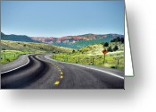 Guidance Greeting Cards - Red Canyon Seen From Highway Greeting Card by Utah-based Photographer Ryan Houston