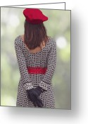 Haired Greeting Cards - Red Cap Greeting Card by Joana Kruse
