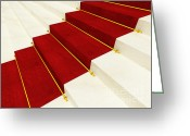 Award Greeting Cards - Red Carpet Greeting Card by Gualtiero Boffi