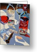 Beer Greeting Cards - Red Cat  White Cat Greeting Card by Christopher Mize