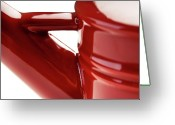 Onyonet Photo Studios Greeting Cards - Red Ceramic Abstract Greeting Card by  Onyonet  Photo Studios