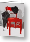 Melon Greeting Cards - Red Chair Greeting Card by Manfred Lutzius