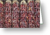 Chili Peppers Greeting Cards - Red Chili Peppers Greeting Card by Bryan Mullennix