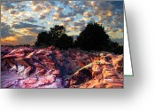 Redstone Greeting Cards - Red Cliff Sunset Greeting Card by Ric Soulen