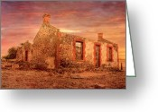 Falling Down Greeting Cards - Red Creek Ruins II Greeting Card by Mark Richards