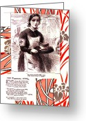 Edwardian Mixed Media Greeting Cards - Red Cross Nurse Greeting Card by Marcia Masino
