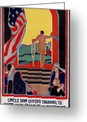 Amputee Greeting Cards - Red Cross Poster, 1919 Greeting Card by Granger