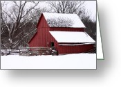 Kansas City Greeting Cards - Red Greeting Card by Curlicue Photography
