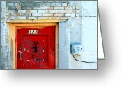 Designers Choice Photo Greeting Cards - Red Door 325  Greeting Card by Steven Milner