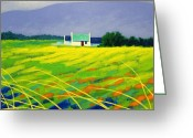 Giclees Greeting Cards - Red Door County Wicklow Greeting Card by John  Nolan