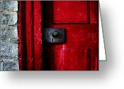 Red Door Greeting Cards - Red Door Greeting Card by Steven  Michael