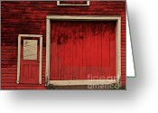 Old Doors Greeting Cards - Red Doors Greeting Card by Perry Webster