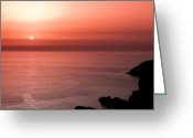 Stack Framed Prints Greeting Cards - Red Dusk Greeting Card by Gary Finnigan