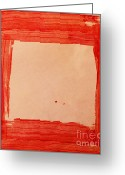 Brushstroke Greeting Cards - Red Frame   Greeting Card by Igor Kislev