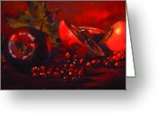 Online Art Gallery Greeting Cards - Red Fruit Greeting Card by Penelope Moore
