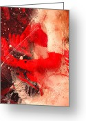 Glove Digital Art Greeting Cards - Red Gloves Greeting Card by Svetlana Sewell