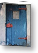 Door Hinges Greeting Cards - Red Hinges Greeting Card by Bob Whitt