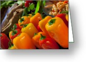 Chili Peppers Greeting Cards - Red Hot Chili Peppers Greeting Card by Marcie Adams Eastmans Studio Photography