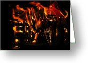 Aflame Greeting Cards - Red Hot  Greeting Card by Joyce Dickens