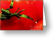 Kitchen Photos Greeting Cards - Red Hot Tomato Greeting Card by Karen Wiles